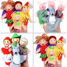 Brinquedo feito sob encomenda do fantoche do dedo da mão das crianças das crianças do jogo da casa