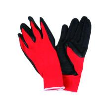 13G Polyster Liner Handschuh mit Latex beschichtet, Falten fertig