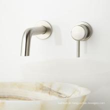 Misturador de lavatório de latão sólido e misturador de pia único de montagem em parede