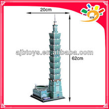 Beautiful 3D Paper Jigsaw Puzzle DIY Toys Architecture Model Taipei 101 Building Puzzle