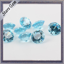 Ablaze Blue Aquamarine Color Brilliant Cut CZ Gemstone