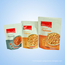 Plastic Erect Zip Bag for Snack Dry Food