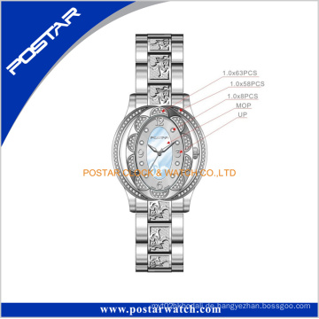 Großhandelsart- und weiseschmucksache-Damen-Edelstahl-Armbanduhr