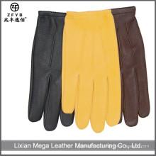 Herren Kleid deerskin Leder Motorrad Leder Handschuhe, Handschuhe für das Fahren