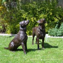 Bronze Dog Labador Retreiver Statue pour la décoration intérieure