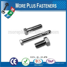 Made in Taiwan high quality carbon steel machine screw hex head screw hexagon screw