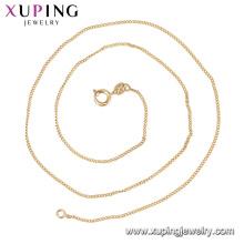 44074 18k corrente de ouro colar de jóias de moda longa cadeia de ouro design simples