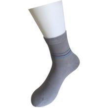 Плоские трикотажные хлопковые серые базовые носки для платья (JMDS02)