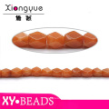 DIY Orange Helical Jewelry Semi Precious African Helical Jade Beads