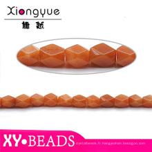 BRICOLAGE bijoux hélicoïdale Orange Semi précieux africains hélicoïdale Jade perles