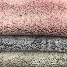 tela de lana de cordero sintética sherpa estampada