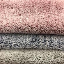 tissu imprimé en faux laine d'agneau sherpa