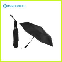 Negro Color Dos Doblar Auto Open Umbrella
