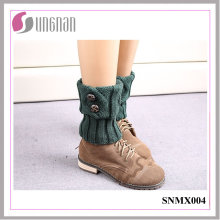 Calcetines de pierna de botón de lana de invierno de Europa 2015 calcetines de pies calientes de Europa
