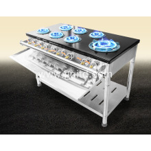 7 burners auto ignition commercial gas stove