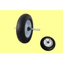 400-8 Type léger avec essieu de roue en caoutchouc plein