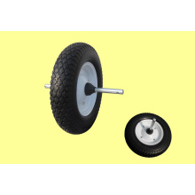 Full Rubber Wheel 400-8 Light Type with Axle
