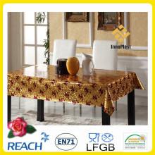 Tampa de mesa de PVC vinil dourado e em relevo / tabela Overlay para casamento