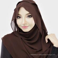 Les femmes élégantes confortables mode musulman hijab écharpe guangzhou