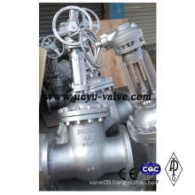 DIN Pn40 Dn250 Gear Operated Gate Valve