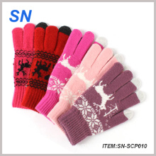2015 Fashionable Acrylic Knitted Winter Touch Screen Glove