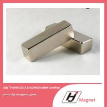 Haute puissance forte N35-52 néodyme bloc aimant fabriqué par ligne de haute qualité