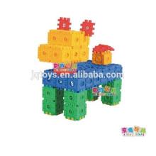 Brinquedos quadrados digitais do quebra-cabeça do bloco
