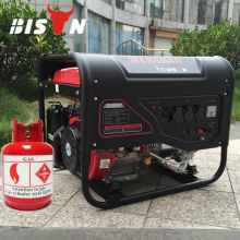 BISON CHINA Precio bajo 3 fase LPG Eléctrico HONDA GX270 5kw Generator