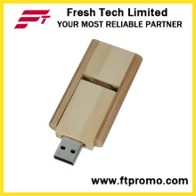 16GB Swivel Bamboo&Wood Style USB Flash Drive (D808)