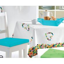 PVC-bedruckte Muster Tischdecke mit 40g Nonwoven Backing (TJ0002)