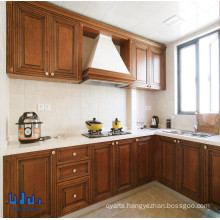 Antique Brown Color Solid Wood Kitchen Cabinets