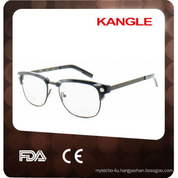 2017 new style nice popular acetate combined with metal optical frames