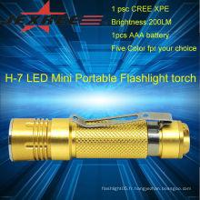 Lampe de poche led de lumière de secours Lampe torche portative de 200lm