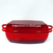 Rectangle Enamel Roasting Pan Set With Cover