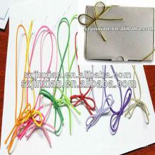 Cuerda elástica anudada de plata, lazo elástico