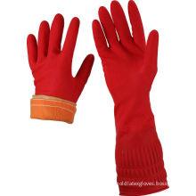 Long Cuff Thick Latex Gloves Cotton Cloth Warm Latex Household Glove
