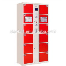 Public use 12 door coin operated electronic locker