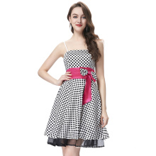 Starzz 2016 Sexy Spaghetti Straps Polka Dots Satin Short Cocktail Dress ST000087-4
