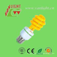 T3 série de lâmpada de cor amarela (VLC-CLR-15W-série-Y) de lâmpadas economizadoras de energia