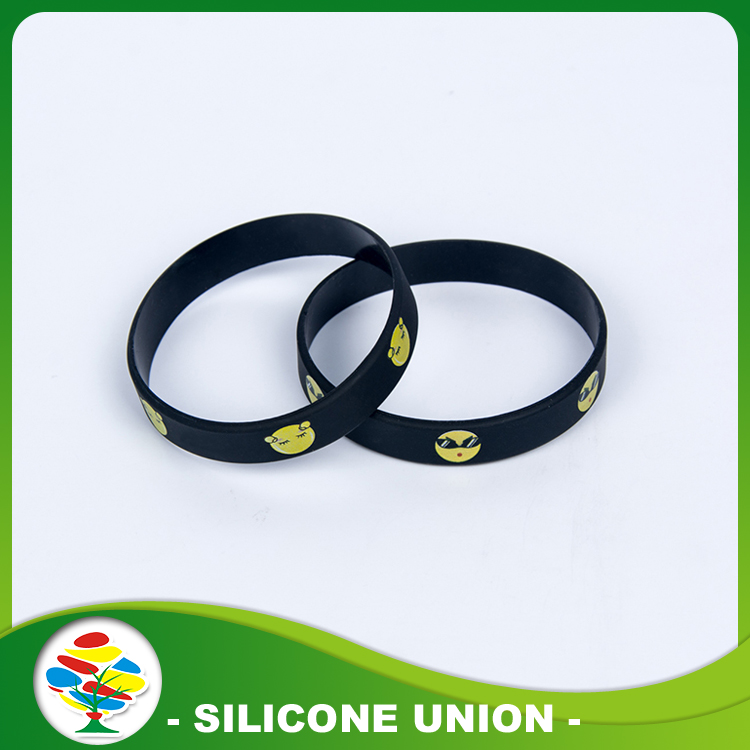 Silicone silk screen printed bracelet
