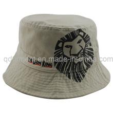 Chapeau à godet de pêche à la broderie à imprimé lavé de qualité supérieure (TMBH9446)