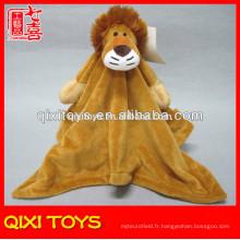 couvertures de tête de lion animal en gros couvertures en peluche super douces
