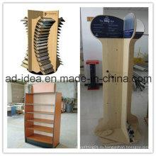 Деревянный Стеллаж для выставки товаров магазина/ Дисплей для выставки стенд плитка (мА-101)
