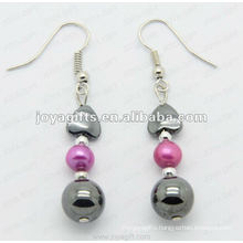 Fashion Hematite Round Beads Earring