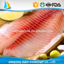 Nova chegada melhor qualidade de peixes congelados tilapia filé com preço competitivo