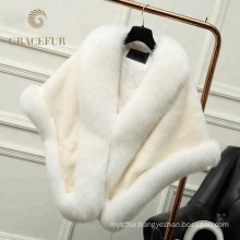New Style different color Fashion Real fur shawl
