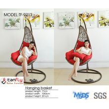 Contemporary simple design rattan hanging lounge chair bedroom furniture.
