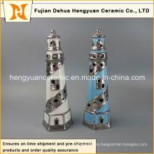 Decoración creativa Faro de cerámica con tealight
