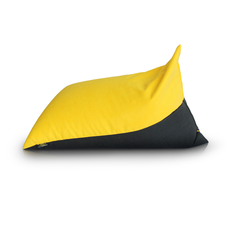 Yellow living room bean bag sofa bed