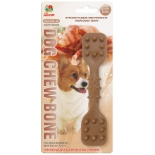 "Percell 6 ""Dura Chew Toy Dumbbell Bacon Scent"